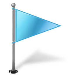 Azure Flag Map Marker Right Icon Download Free Icons