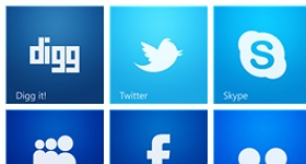 Windows 8 Style Social Icons