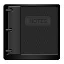 Black, Notepad Icon