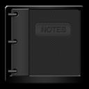 Black, Notepad Icon