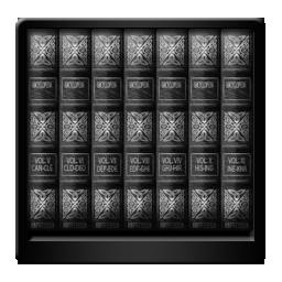 Black, Libraries Icon