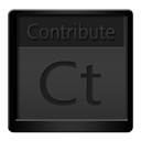 Black, Contribute Icon