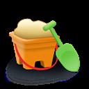 Bucket, Sand Icon