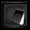 Black, Microsoft, Onenote Icon