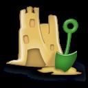 Castle, Sand Icon