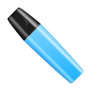 Blue, Shut, Stabilo Icon