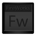 Black, Fireworks Icon