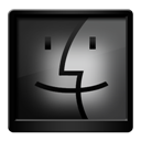 Black, Finder Icon