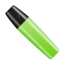 Green, Shut, Stabilo Icon