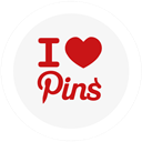 i, Love, Pins, Round Icon