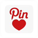 Love, Pin, Square Icon