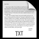 File, Txt, z Icon