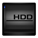 Black, Hdd Icon