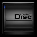 Black, Compact, Disc, Drive Icon