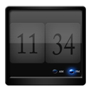 Black, Clock Icon