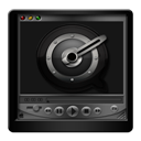 Black, Player, Quicktime Icon
