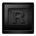 Black, Rocketdock Icon