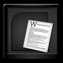 Black, Microsoft, Word Icon