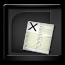 Black, Microsoftexcel Icon