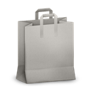 Grey, Paperbag Icon