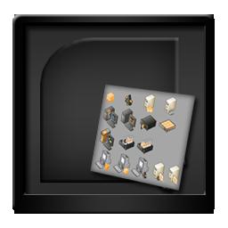 Black, Microsoft, Visio Icon