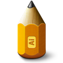 Adobe, Illustrator, Pencil Icon