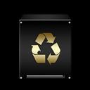 Empty, Gold, Trash Icon