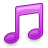 Music, Note, Pink Icon