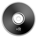 Black, Dvd+r Icon