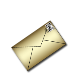 Gold Mail Icon Download Free Icons