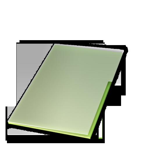 Documents, Ferme, Vert Icon