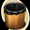 Empty, Trash, Wood Icon