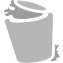 Bin, Full, Grey, Recycle Icon