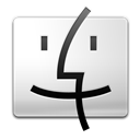 Black, Finder, White Icon