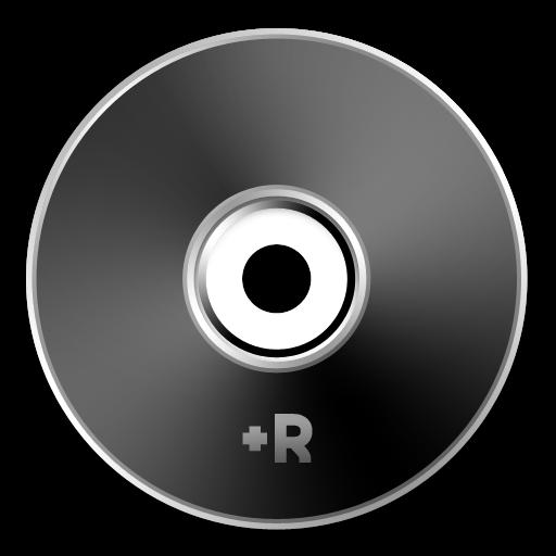 Black, Dvd+r Icon