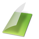 Documents, Vert, Vide Icon