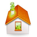 At, Folding, Home Icon