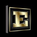 Excel, Gold, Microsoft Icon