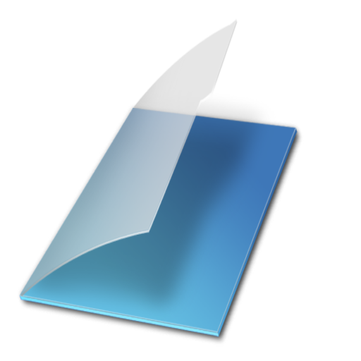 Bleu, Documents, Vide Icon