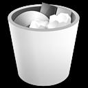 Full, Trash, White Icon