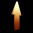 Orange, Upload Icon