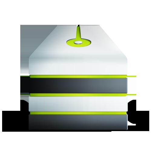 Allume, Server, Vert Icon
