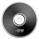 Black, Dvd, Rw Icon