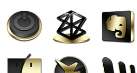 Black And Gold 2 Icons