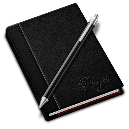 Black, Pages Icon