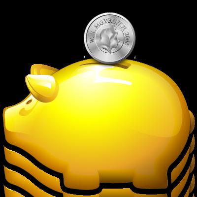 Bank, Golden, Piggy Icon
