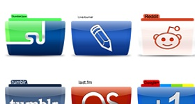 Social Networks Colorflow Icons