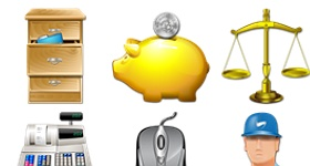 Seven Accounting Icons