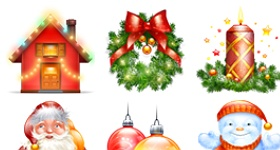 Xmas And New Year Icons