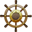 Icon, Nautilus, Ship, Steering, Wheel Icon